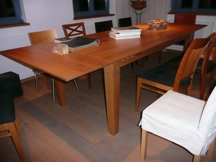 Tisch Birne 200 x 80 mit 2 Ansteckplatten (je 80 cm)