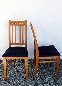 amerikanischer Kirschbaum, Sitzfläche Leder